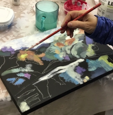 Member's Day Workshop Painting on Black Gesso