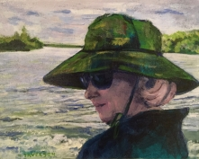 """""""The Hat"""", Acrylic by Thelma Savelson"""