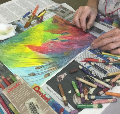 oil pastels workshop